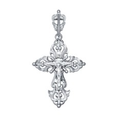 Крест из белого золота