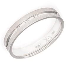 Обручальное кольцо с 3 бриллиантами